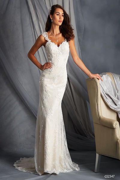 Fit and Flare Lace Gown with Low Sheer Back - WWedding Dress - GS2547 - Hornsby - Sydney