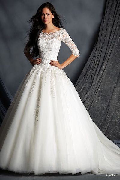 Long sleve off the shoulders fairy tail wedding dress -GS2491 Geraldinne Style - Sydney - Hornsby