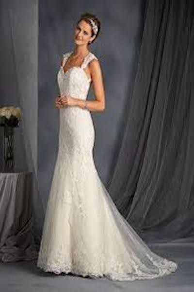 Satin and net overlay gown fitted sihouette with re-embroidered - G2545 - Sydney - Hornsby