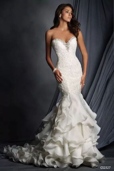 Strapless fitted wedding dress with ruffle skirt - GS2527 - Geraldinne Style -Sydney - Hornsby