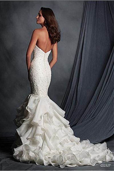 Wedding Dresses Ball Gown, Elegant Organza Satin Sweetheart Neckline Mermaid Wedding Dress With Beaded Lace Appliques - Geraldinne Style - Sydney - Hornsby